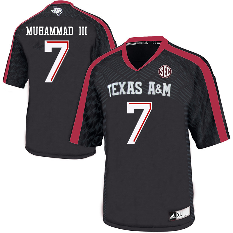 Men #7 Muhsin Muhammad III Texas A&M Aggies College Football Jerseys Sale-Black