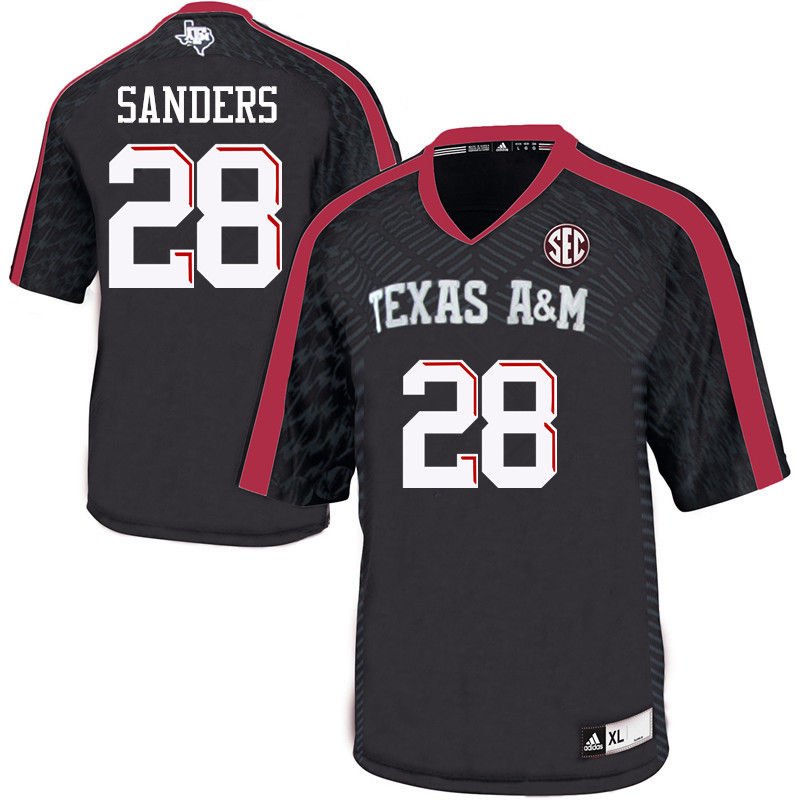 Men #28 A.J. Sanders Texas A&M Aggies College Football Jerseys-Black