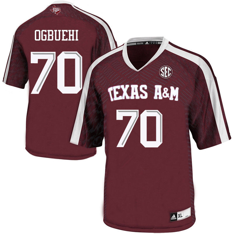 Men #70 Cedric Ogbuehi Texas A&M Aggies College Football Jerseys-Maroon