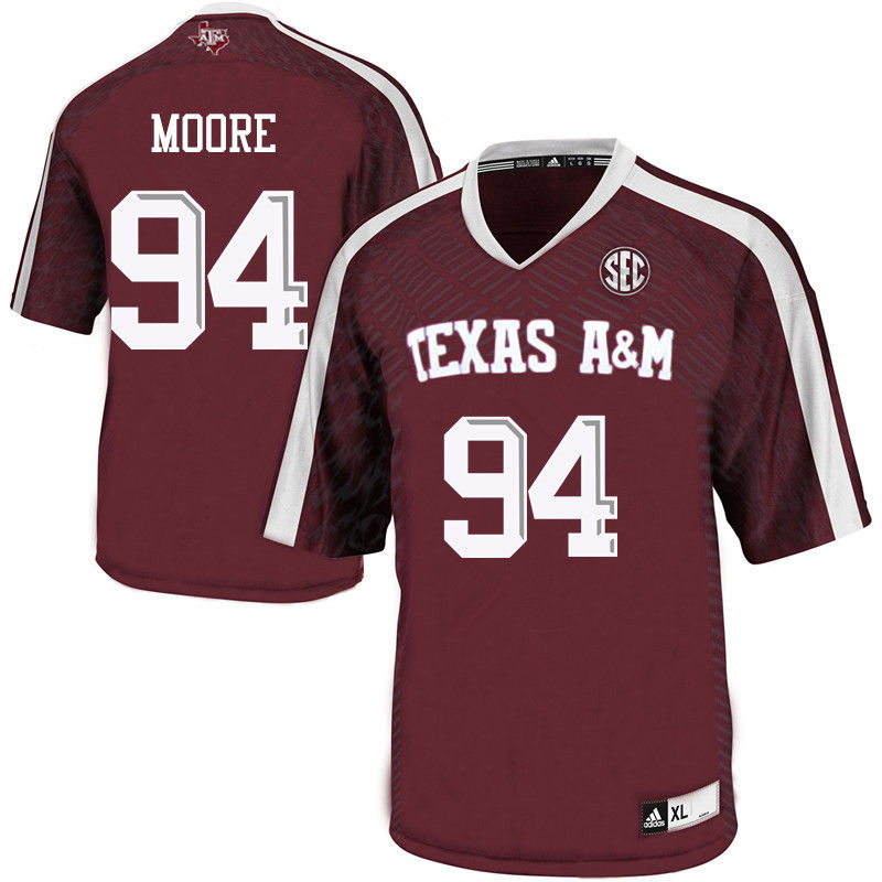 Men #94 Damontre Moore Texas A&M Aggies College Football Jerseys-Maroon