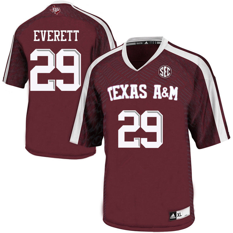 Men #29 Deshazor Everett Texas A&M Aggies College Football Jerseys-Maroon