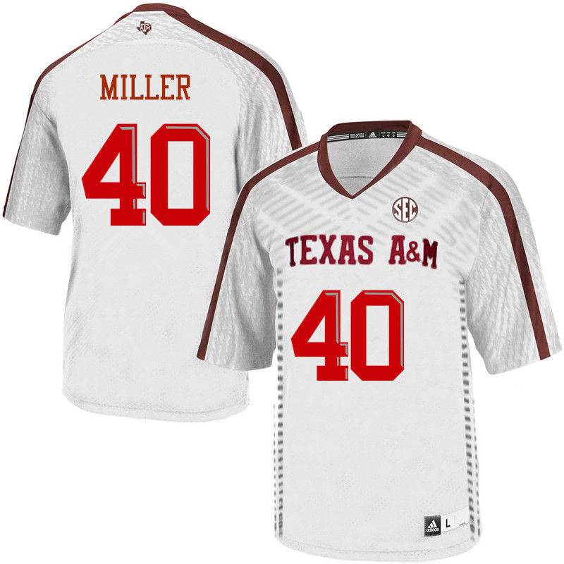 Men #40 Von Miller Texas A&M Aggies College Football Jerseys-White